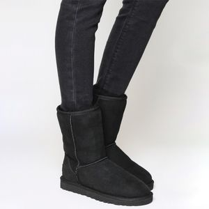 UGG Authentic Classic Short Black Sheepskin Boots